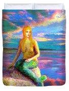 Mermaid Magic Duvet Cover by Jane Small