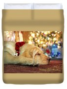 Merry Christmas From Lily Duvet Cover by Lori Deiter