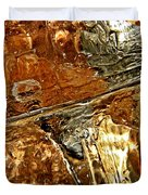 Metallic Ice Duvet Cover by Chris Berry