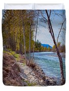 Methow River Coming From Mazama Duvet Cover by Omaste Witkowski