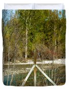 Methow River Springtime Duvet Cover by Omaste Witkowski
