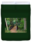 Metroparks Pathway Duvet Cover by Frozen in Time Fine Art Photography