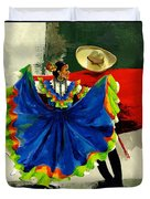 Mexican Dancers Duvet Cover by Elisabeta Hermann