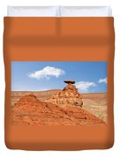 Mexican Hat Rock Duvet Cover by Christine Till