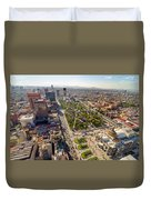 Mexico City Aerial View Duvet Cover by Jess Kraft
