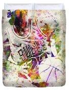Michael Jordan Duvet Cover by Aged Pixel