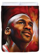 Michael Jordan Artwork 2 Duvet Cover by Sheraz A