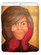 Michelle Obama Duvet Cover by Ginnie McKnight