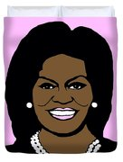 Michelle Obama Duvet Cover by Jost Houk