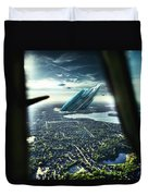 Michigan 2050 Duvet Cover by Nicholas  Grunas