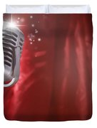 Microphone Duvet Cover by Les Cunliffe