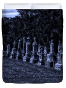 Midnight In The Garden Of Stones Duvet Cover by Thomas Woolworth