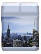 Midtown Manhattan Duvet Cover by Ray Warren