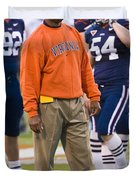Mike London University Of Virginia Football Duvet Cover by Jason O Watson