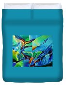 mindscape no.2-Improvisation Saxophone and Piano Duvet Cover by Wolfgang Schweizer