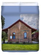 Mineral Bluff Station Duvet Cover by Debra and Dave Vanderlaan