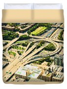 Mini Motorway Duvet Cover by Andrew Paranavitana