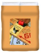 Minneford Monopoly Duvet Cover by Marguerite Chadwick-Juner