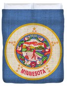 Minnesota State Flag Duvet Cover by Pixel Chimp