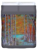 Minnesota Sunset Duvet Cover by Jacqueline Athmann