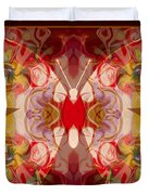 Miracles Can Happen Abstract Butterfly Artwork Duvet Cover by Omaste Witkowski