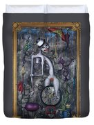 Miss Millies Greatest Show On Earth Duvet Cover by Kelly Jade King