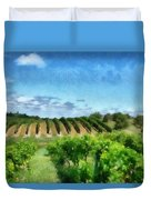 Mission Peninsula Vineyard Ll Duvet Cover by Michelle Calkins