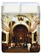Mission San Xavier Del Bac Duvet Cover by Bob and Nadine Johnston