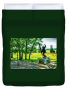Mississippi Memorial Gettysburg Battleground Duvet Cover by Bob and Nadine Johnston