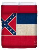 Mississippi State Flag Duvet Cover by Pixel Chimp
