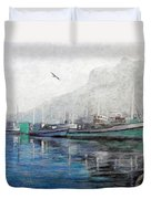 Misty Morning In Hout Bay Duvet Cover by Michael Durst