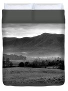 Misty Mountain Morning Duvet Cover by Dan Sproul