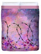 Mixed Messages Duvet Cover by Rachel Christine Nowicki