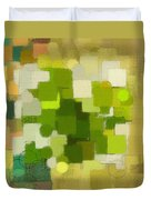 Modern Abstract Xxxv Duvet Cover by Lourry Legarde