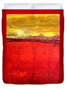 Mojave Dawn Original Painting Duvet Cover by Sol Luckman
