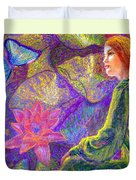 Moment of Oneness Duvet Cover by Jane Small