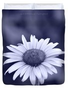 Monochrome Aster Duvet Cover by Sonali Gangane