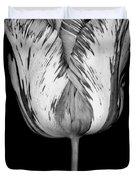 Monochrome streaked tulip Duvet Cover by Oscar Gutierrez