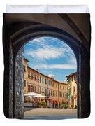 Montalcino Loggia Duvet Cover by Inge Johnsson