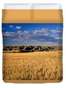 Montana   Field And Hills Duvet Cover by Anonymous