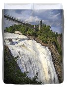 Montmorency Falls Park Quebec City Canada Duvet Cover by Edward Fielding