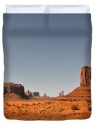 Monument Valley - Beauty Created By Nature Duvet Cover by Christine Till