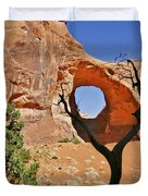 Monument Valley - Ear Of The Wind Duvet Cover by Christine Till