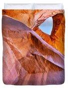 Monument Valley - Eye of the Sun Duvet Cover by Christine Till