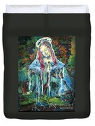 Monumental Tree Goddess Duvet Cover by Genevieve Esson