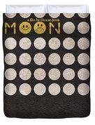 Moon Duvet Cover by Ayse Deniz
