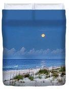 Moon Over Beach Duvet Cover by Michael Thomas