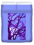 Moon Tree Purple Duvet Cover by First Star Art