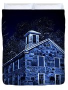 Moonlight on the Old Stone Building  Duvet Cover by Edward Fielding