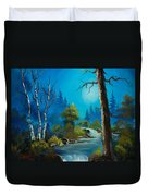 Moonlight Stream Duvet Cover by C Steele